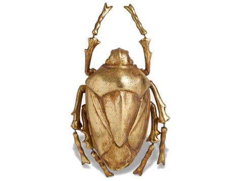 gold beetle wall art | large gold beetle wall hanging